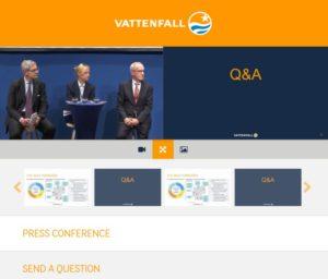 Vattenfall Webcast Qs via Web
