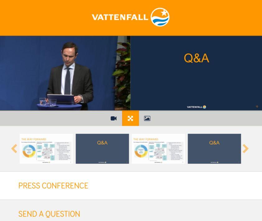 Vattenfall Webcast Qs via Web1