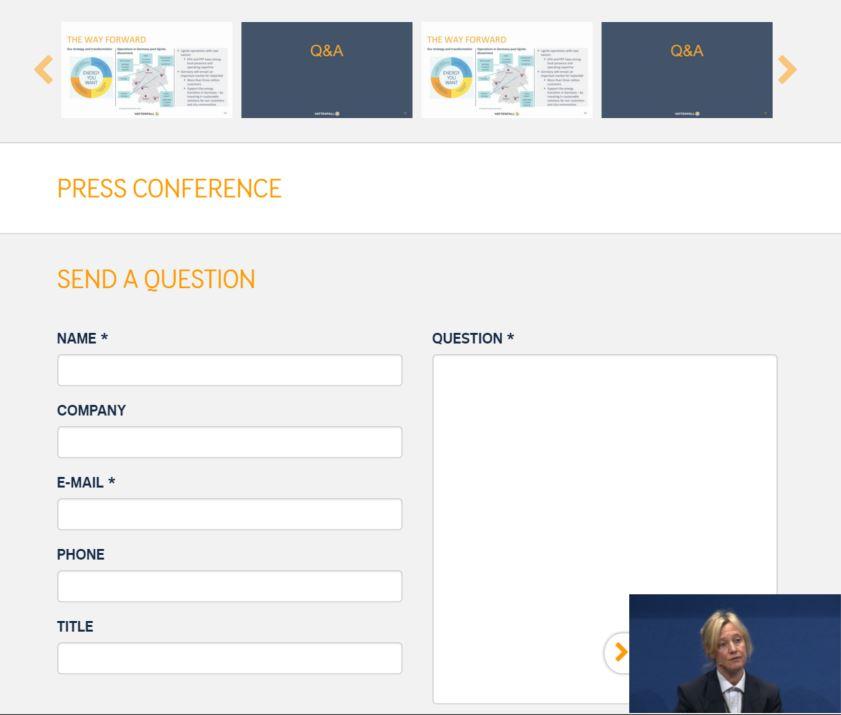 Vattenfall Webcast Qs via Web2