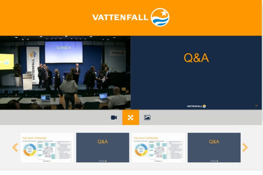 Vattenfall Webcast Qs via Web3